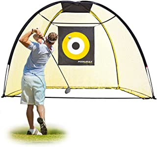PodiuMax 9x7ft Golf Hitting Net with Target Sheet | Driving Range for Backyard & Indoor | Golfing Swing Training Aids