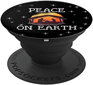 Peace On Earth Nativity Baby Jesus Christmas Sweater Jumper  PopSockets Grip and Stand for Phones and Tablets