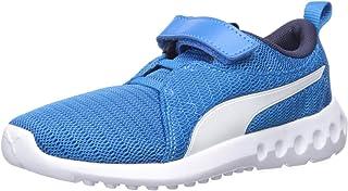 PUMA Unisex-Baby Carson 2 Velcro Sneaker, indigobunting-White, 5 M US Toddler