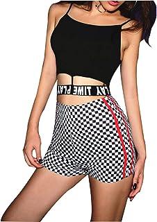 LSHJP ズボン 女性 セクシー プリント ファッション カジュアル ハイウエスト きれいめ セクシー おでかけ