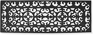 A1 Home Collections First Impression Audrey Rubber Entry Double Doormat, 17.71