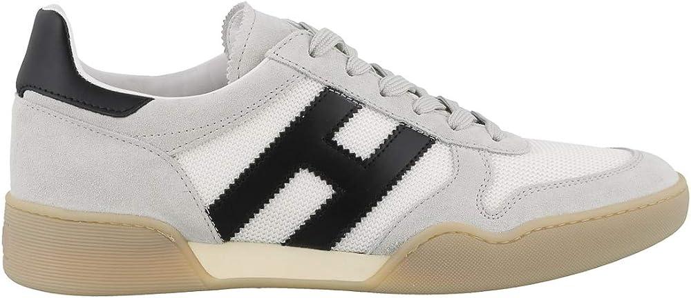 Hogan,scarpe sportive,sneakers per uomo,in tela e pelle scamosciata H357