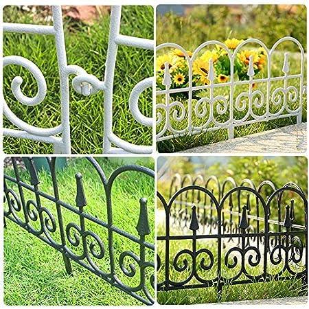 Fencing for Yard Landscape Garden Border Edging Barrier Garden Edging Decorative Border Plastic for Patio Garden Backyard 5PCS Garden Fence