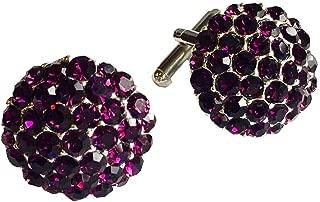 Clinks Cufflinks Mens Crystal Cluster Cufflinks - Purple