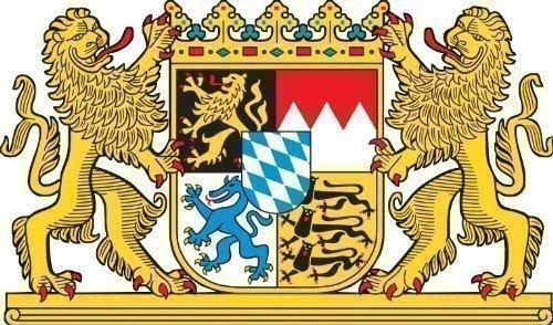 Bayern Löwen Wappen, Wappen Deutschland Bundesland Caravan Truck Bike Autoaufkleber 10x6,6 cm