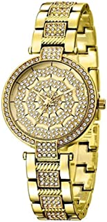 Wangyr Women's Watch Fashion Luxury Wild Pointer/Waterproof Alloy Women's Quartz Watch/Good Material, High Quality Unique Fashion Classic Casual Luxury Business Dress (Color : Gold)