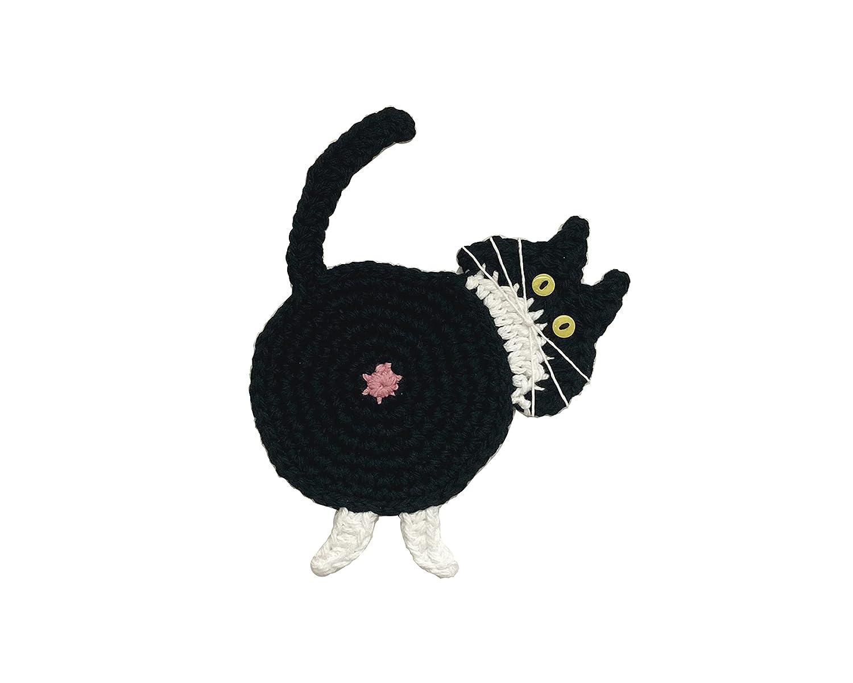 Cat Butt Coaster by Yeeli's Corner Tuxedo Max 62% OFF Save money Little Black