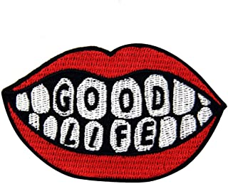 Good Life Patch Embroidered Badge Iron On Sew On Emblem