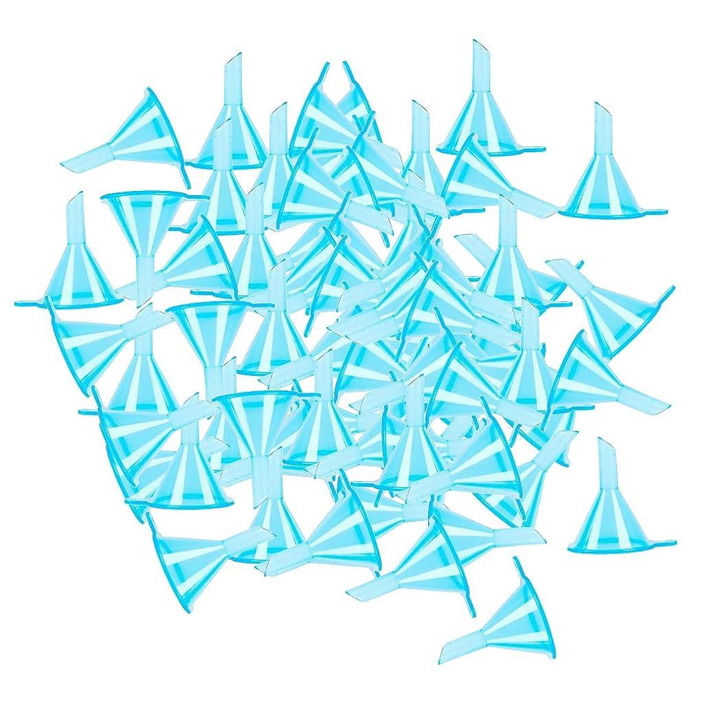 誘惑行き当たりばったり賢明なP Prettyia 3色 ミニ ファンネル 香水 パウダー エッセンシャルオイルボトル バイアルのため 100個入り - ブルー