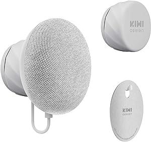 KIWI design Wall Mount Holder for Google Nest Mini(2nd Gen), Space Saving Outlet Mount Superb Cord Management for Nest Mini by Google (Gray)