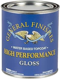 General Finishes QTHG High Performance Water Based Topcoat, 1 Quart, Gloss