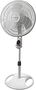 Lasko 1646 16 in. Remote Control Stand Fan, White