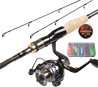 YROD Lure Rod, Fly Bass Trout Rod, Telescopic Reel Combos Spinning Wheel Far Throw Long Distance Super Hard Sea Rock Fishing Carbon Pole Full Set Double Rod Slightly