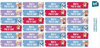 Ludilabel - Lote de 24 etiquetas termoadhesivas para ropa - Disney Frozen