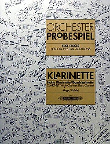 ALBUM - ORCHESTER PROBESPIEL- CLARINETE-