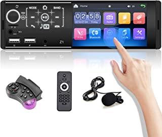 "$56 » OiLiehu Single Din Car Stereo Bluetooth 12V 4.1"" Car MP5 Player HD Touch Screen with Dual USB Port / FM / AM / Mirror Link..."