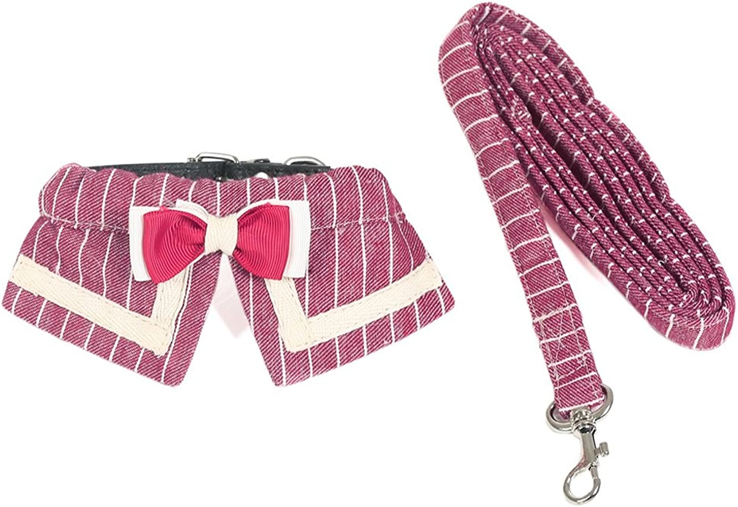 Puppy, Kitten, Girdle, Leash, Dog Chain, Collar, Small Dog, Teddy, Hyena Rope, Cat, Pet Supplies (color   RED, Size   S)