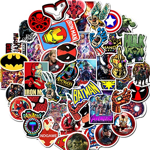 Tbrand Superhero Stickers for Kids Boys Girls Set ~ Featuring Marvel Avengers, Spiderman, Justice League, Batman, Superhero and More (Party Favors Pack)