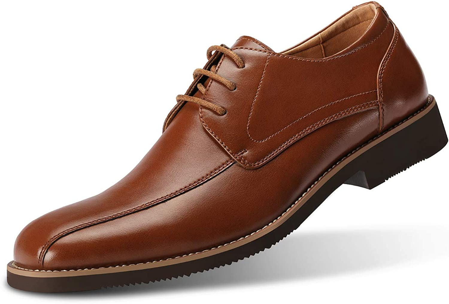 GM GOLAIMAN Men's Leather Dress shoes Square Toe Lace up Oxfords