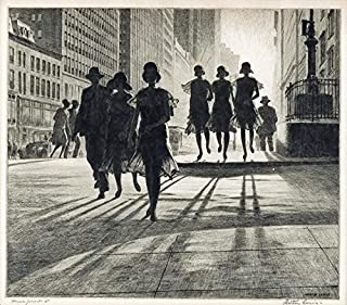 Martin Lewis Shadow Dance Circa 1930 NYC : Drypoint Etching Art Print