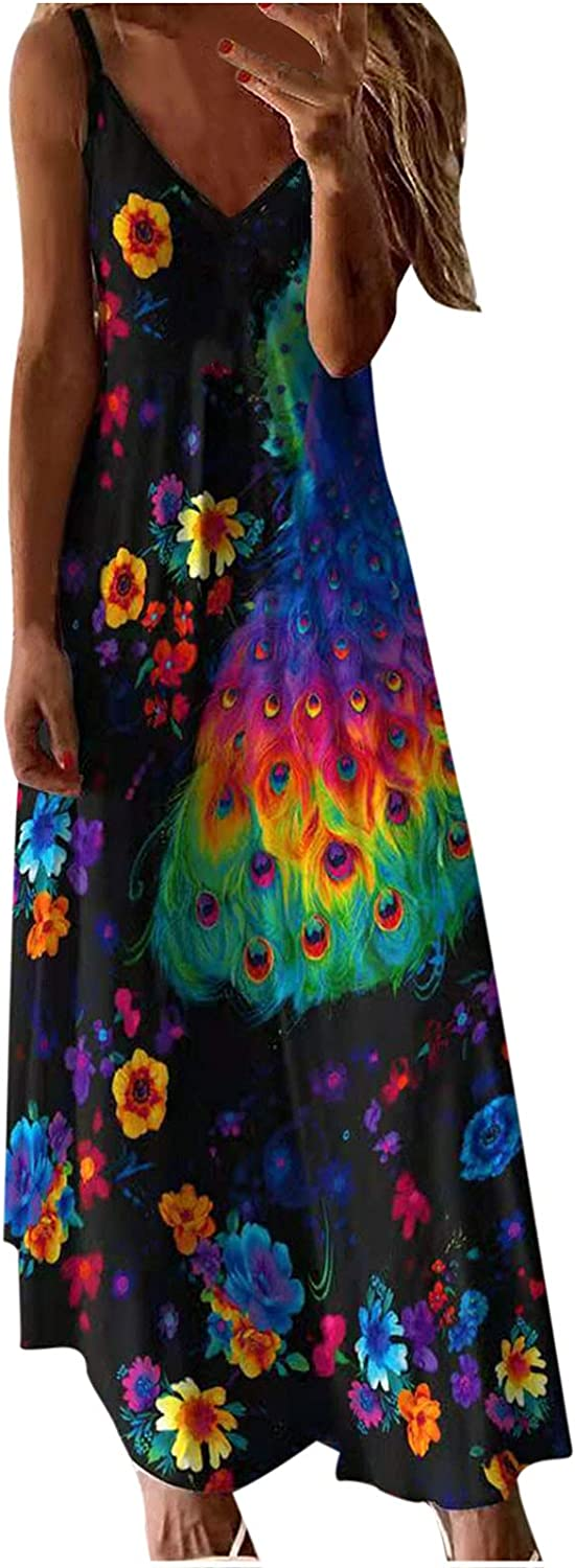 Clearance SALE Limited time Nixiang Women's Summer Casual Spaghetti Printed Bohemian Wholesale Floral