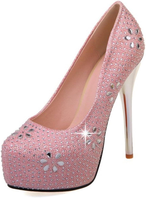 YUBUKE Women's Fashion Sweet Toe T-Strap Heart-Shaped Cute high Heels