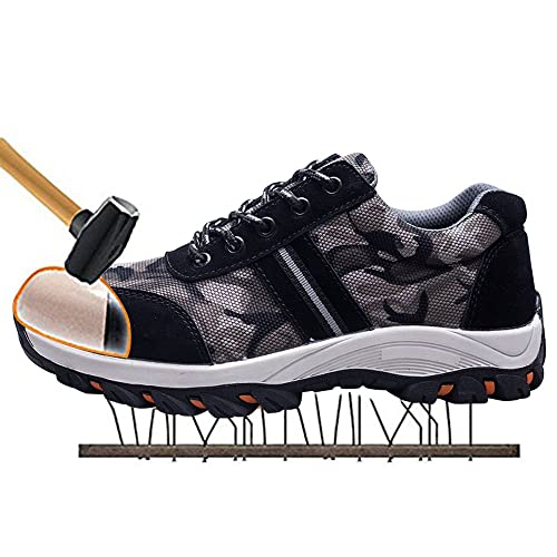 SUADEX Steel Toe Shoes Men, Womens Work Safety Industrial and Construction Sneakers, Outdoor Hiking