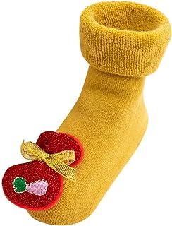Fullnoon_baby socks, Fulltime (TM) Calcetines de Navidad antideslizantes para bebé, unisex, otoño, invierno, cálidos, antideslizantes, con diseño de ciervos, antideslizantes