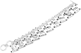 High Country Ten Commandments Charms Link Bracelet with Gift Box - Christian Jewish Theme
