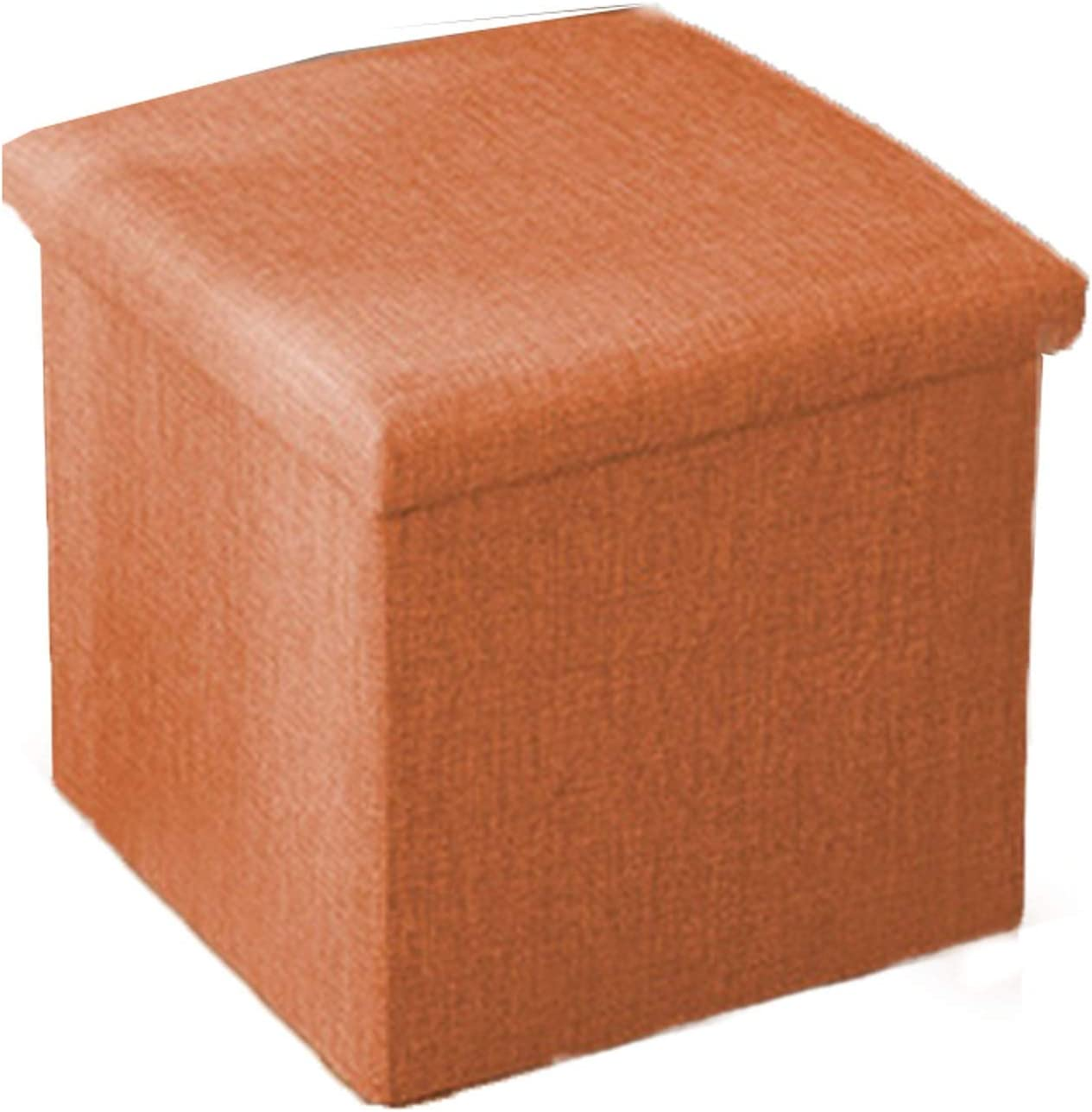 ACD Folding Ottoman Popular Foldable Footstool with Practical Box Soldering Linen