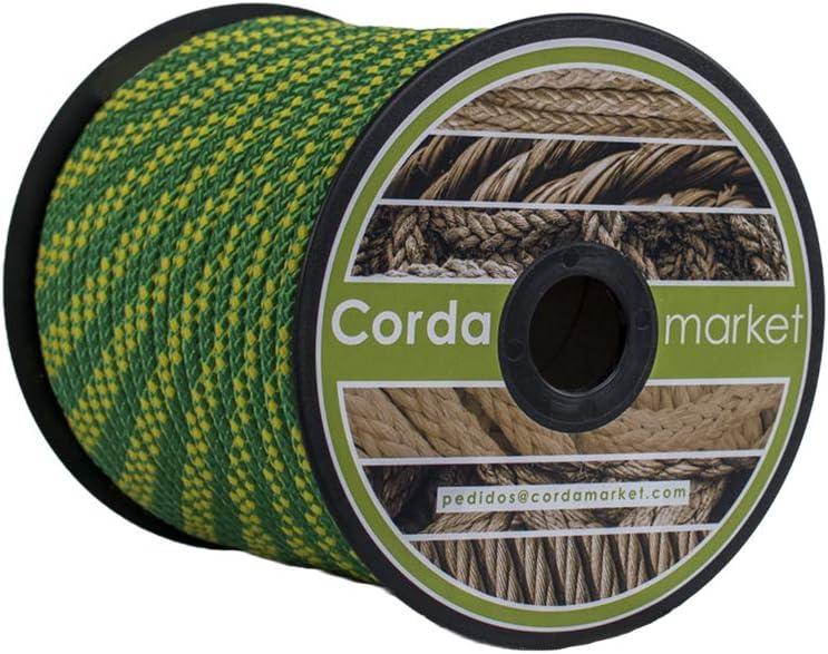 Cordamarket driza nylon platinium lne 8 mm amarillo/verde 50 mts