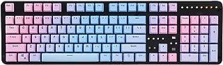 YMDK Double Shot 104 Dyed PBT Shine Through Keyset OEM Profile Keycap Set for Cherry MX Switches Mechanical Keyboard 104 87 61,Sunset Gradient (Only Keycap)