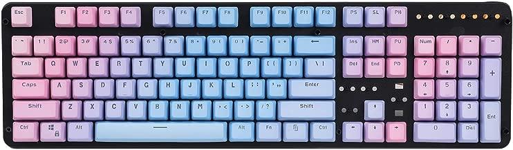 YMDK Double Shot 104 Dyed PBT Shine Through Keyset OEM Profile Keycap Set for Cherry MX Switches Mechanical Keyboard 104 87 61,Sunset Gradient