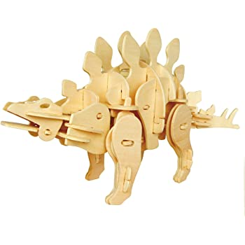 動く木製3Dパズルキット D440ステゴザウルス