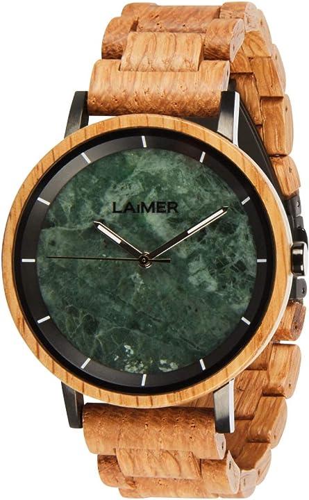 Orologio da polso in legno per uomo - analogico laimer orologio al quarzo U-0165