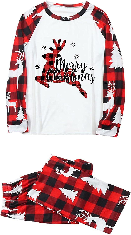 Holiday Christmas Family Pajamas Matching Set Xmas Pjs Loungewear Sleepwear for Women Men Kids