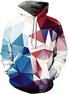 Unisex Mens Womens Cool 3D Print Athletic Fashion Pocket Pullover Hooded Shirts