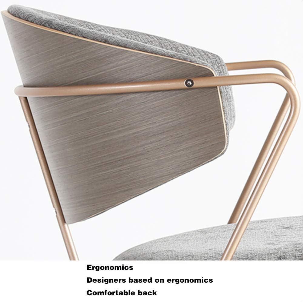 Chaise De Salle À Manger Confortable Rembourré Revêtement en Tissu - Chaise Visiteur avec Un Design Retro Accoudoirs Et Pieds en Bois,C D