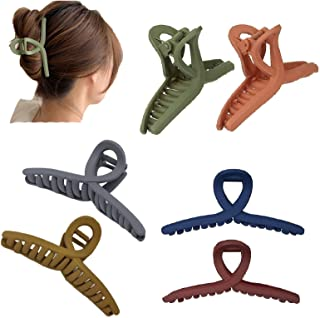6 Pcs Big Hair Claw Clips, Proxima Direct Nonslip Hair Claw Matte Butterfly Clip Clamp Hair Styling Accessories Plastic Gi...