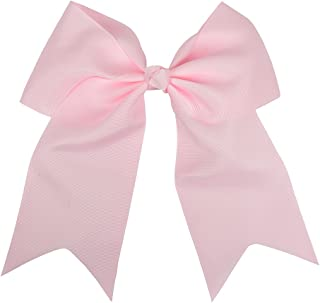 Light Pink Jumbo Bow Clip with Tails