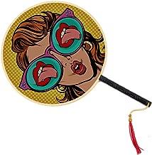 WYYWCY Una Mujer con Gafas de Sol Abanico Chino Antiguo Abanico ...