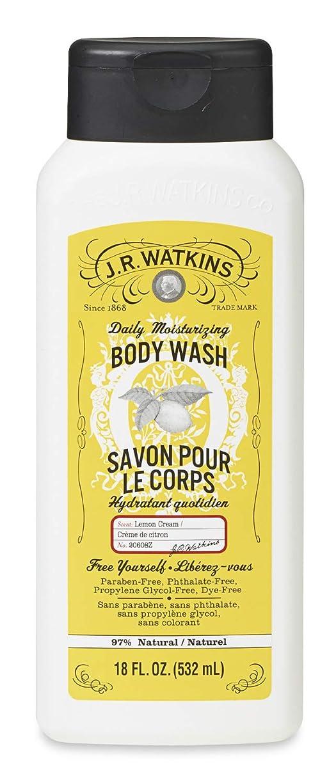 乱暴なカウントアップホストJ.R.Watkins(ジェイ?アール?ワトキンス) ボディウォッシュ レモンクリーム 532ml