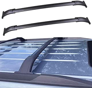 ANTS PART Roof Rack Roof Rails for 2015-2018 Chevrolet Suburban/Chevrolet Tahoe/GMC Yukon/Cadillac Escalade Cross Bar Black Pair Set (Black)