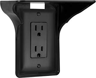 Storage Theory | Power Perch | Ultimate Outlet Shelf | Easy Installation, No Additional Hardware Required | Holds Up to 10lbs | Black Color | Single Shelf