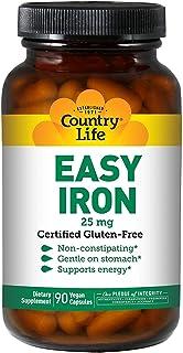Country Life Easy Iron 25 mg 90 Veggie Caps