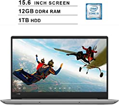 2019 Premium Flagship Lenovo Ideapad 15.6 Inch HD Laptop (Intel i5-8250U, 1.6GHz up to 3.4GHz, 12GB DDR4 RAM, 1TB HDD, Intel HD Graphics 620, WiFi, Greytooth, HDMI, Dolby Audio, Windows 10)(Grey)