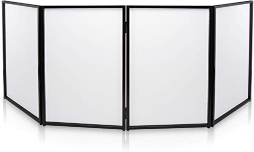 DJ Booth Foldable Cover Screen - Portable Event Facade Front Board Video Light Projector Display Scrim Panel with Fol...