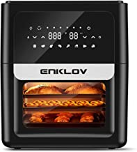ENKLOV Air Fryer Oven, 12 Liter 1700W Electric Hot Air Fryer Convection Ovens Oilless Cooker for Roasting, LED Digital Touchscreen w/8 Presets, Best Choice for Food lovers
