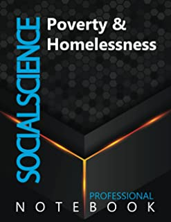 """Social Science, Poverty & Homelessness Ruled Notebook, Professional Notebook, Writing Journal, Daily Notes, Large 8.5"""" x 1..."""