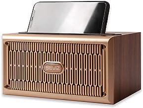 SEVIZ Gold Retro Wireless Bluetooth Speaker, 20W Mono Sound, Bluetooth 5.0 with 4 Hours..